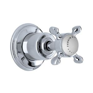 "3241 Perrin & Rowe Single 3/4"" Wall Valve With Crosshead Handle"